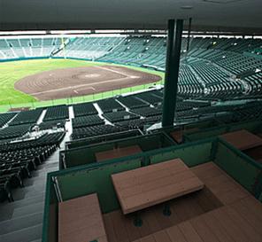 甲子園球場のボックス席内からのイメージ