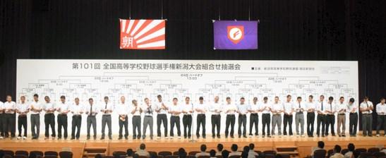 夏の高校野球2019北信越組み合わせ